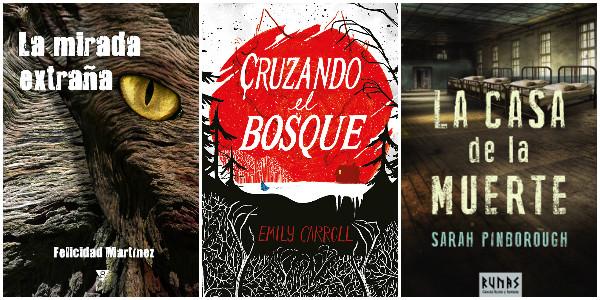 cubierta-libro-la-mirada-extraña-felicidad-martinez-cruzando-el-bosque-emily-carrol-y-la-casa-de-la-muerte-sarath-pinborough
