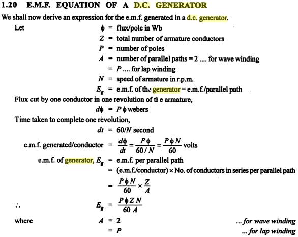 EMF EQUATION OF DC MACHINE PDF DOWNLOAD | Ebook Reviews