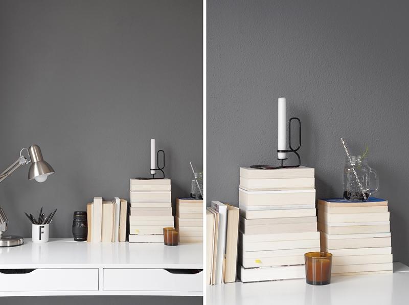 Tasteboykott schneller dekotipp b cherstapel auf dem for Schreibtisch skandinavisch