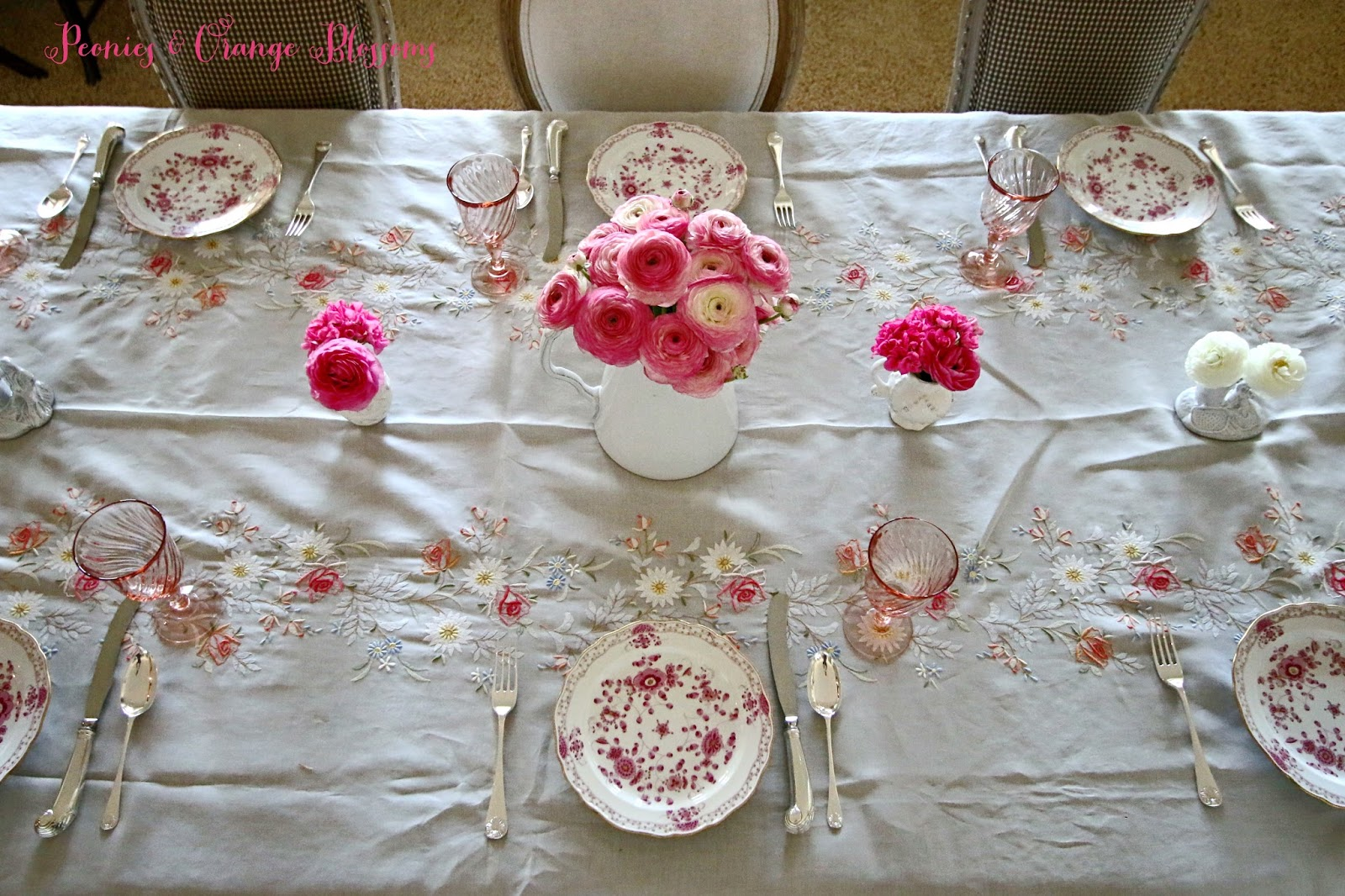 French Table Setting in Pink - Petite Haus