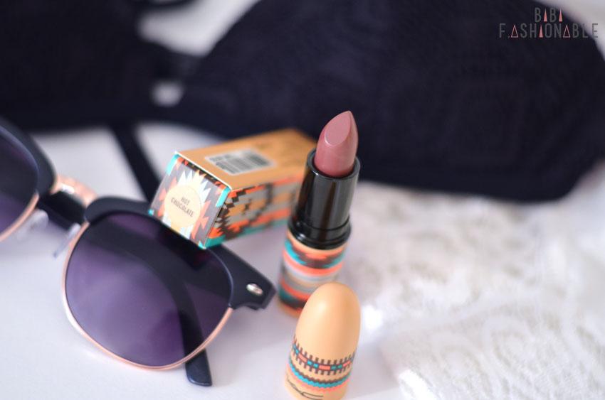 MAC Vibe Tribe Satin Lipstick Hot Chocolate offen von oben