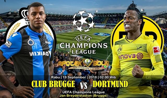 Prediksi Club Brugge Vs Borussia Dortmund 19 September 2018
