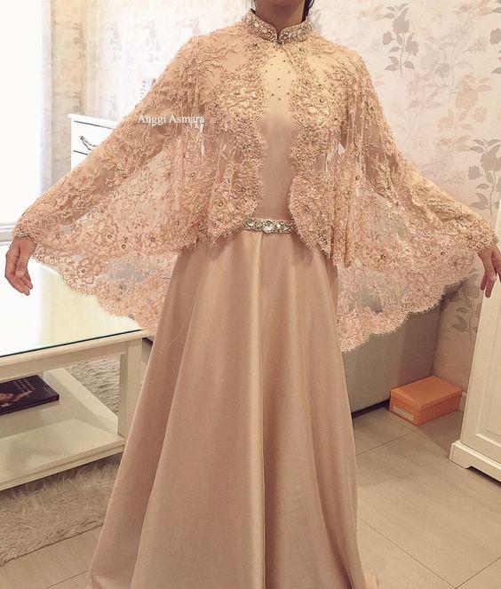 69 Model Baju Pesta Modern Brokat Muslim Kebaya Terpopuler