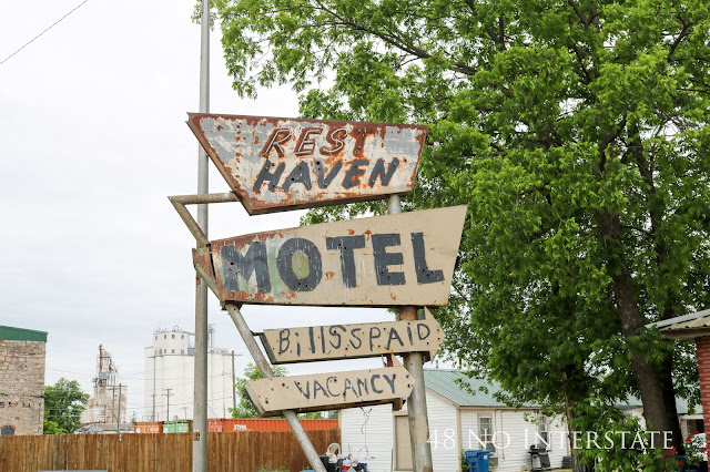 48 No Interstate back roads cross country coast-to-coast road trip Route 66 Kansas Rest Haven Hotel