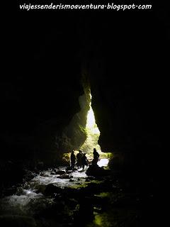Cuevas de Waitomo - Abertura de salida