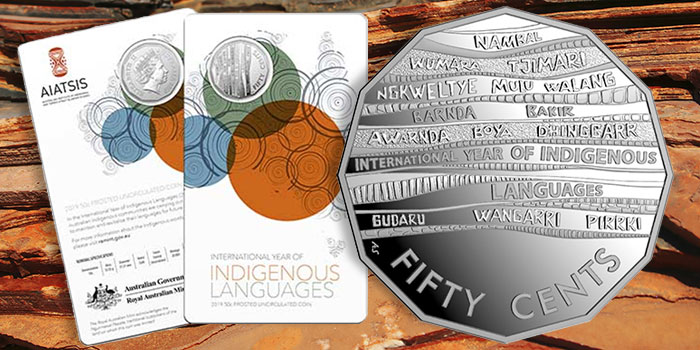2019 RAM 50 Cent Fine Silver Proof Coin Year of Indigenous Languages