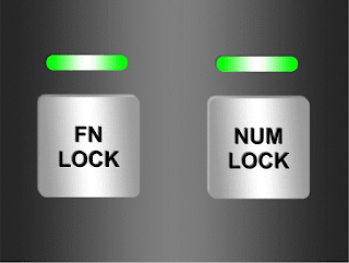 FN LOCK AND NUMLOCK