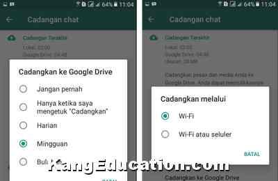 Cara Backup Data Chatting Whatsapp Ke Google Drive Kang Education