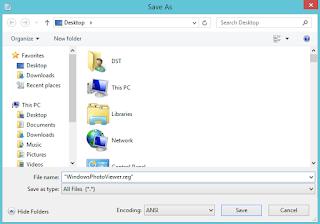 Restore Windows Photo Viewer in Windows 10 open with menu