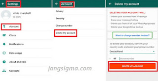 Disable an Account On WhatsApp