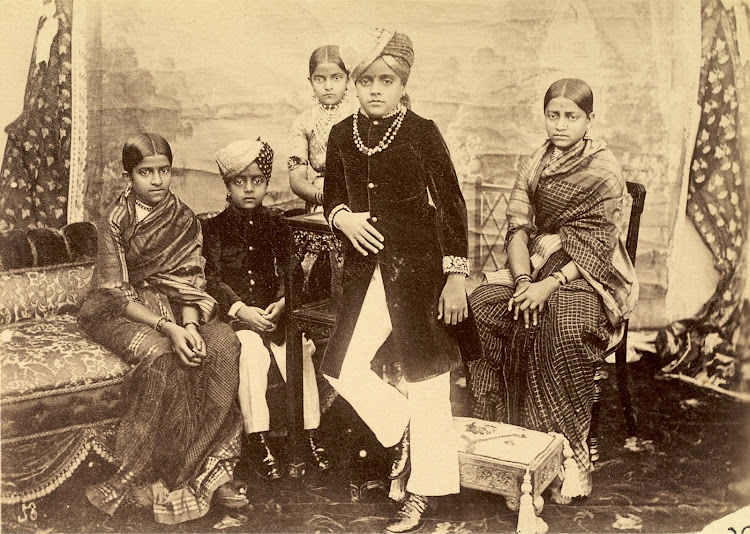 The Maharaja of Mysore Krishnaraja Wadiyar IV and his brothers and sisters in 1895