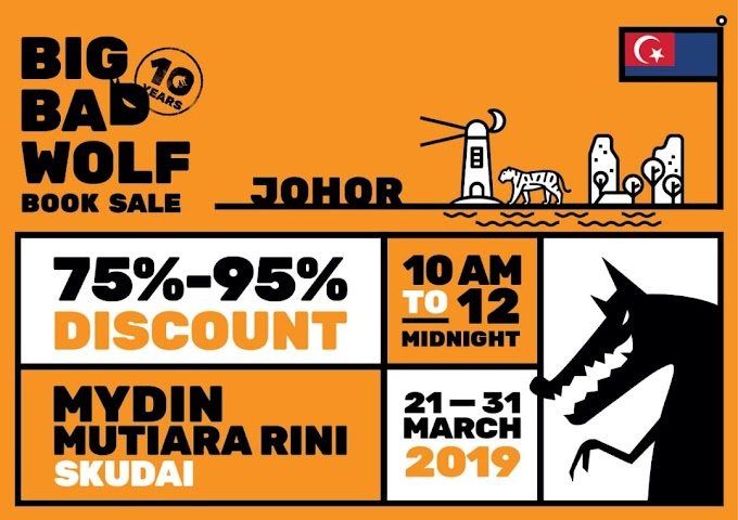 Big Bad Wolf is coming to Johor!