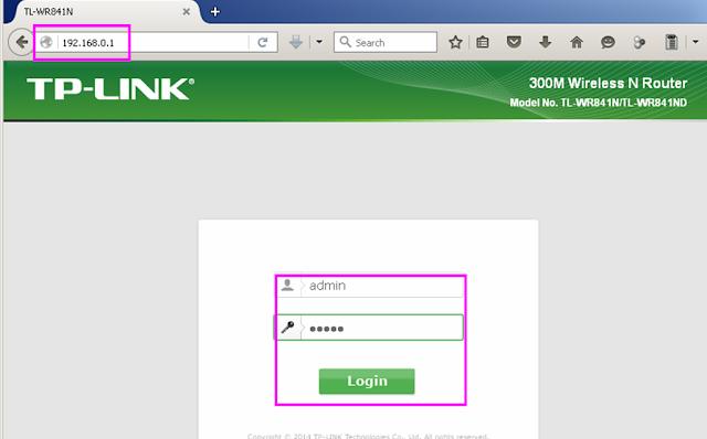 IP address untuk membuka web setting Tp-link