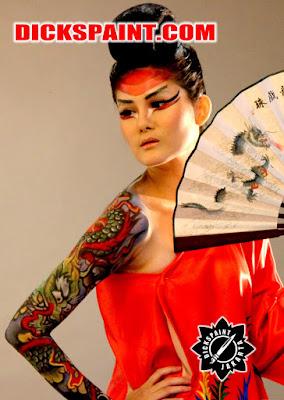 Body Painting Dragon Yakuza Jakarta