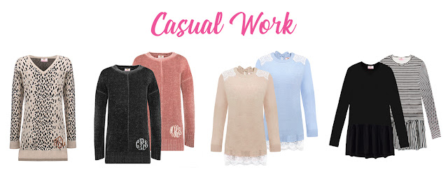 monogrammed casual workwear