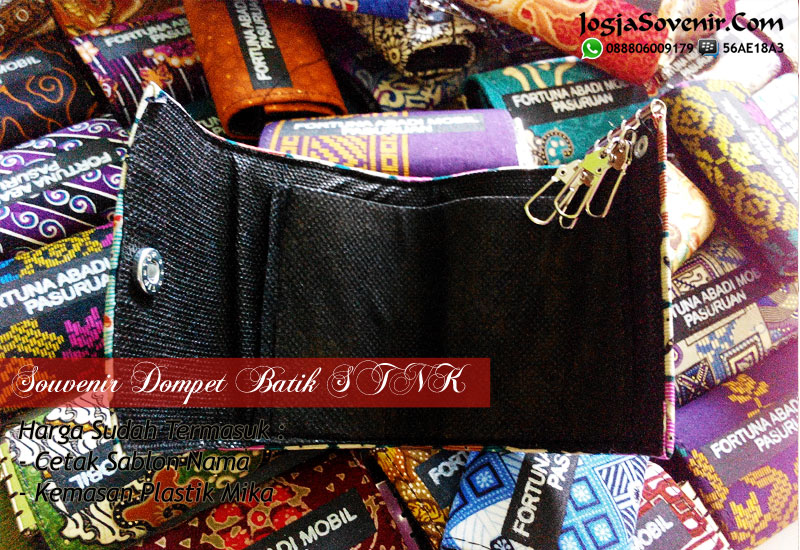 Jual Souvenir Dompet STNK Batik