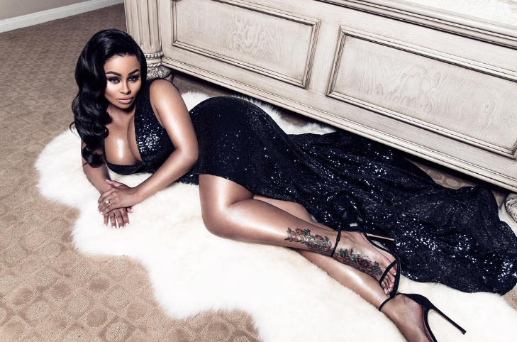 New mother Blac Chyna glows in black gown