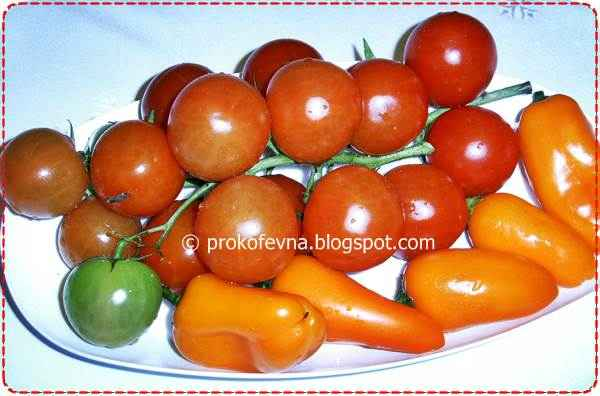 cherry tomato and mini sweet peppers