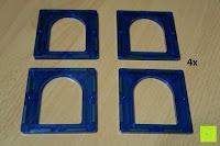 Bogen: Playbees 100 Teile Magnetische Bausteine Set für 2D und 3D Form Konstruktionen, Regenbogenfarben Magnetspielzeug, Baukasten Magnetspiel, Magnetbausteine