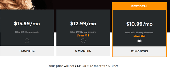 VOX Plans & Pricing