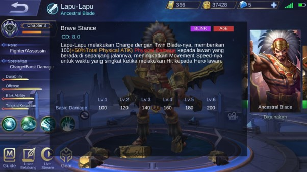 Skill 2 Lapu-Lapu Si Hero Fighter Mobile Legend