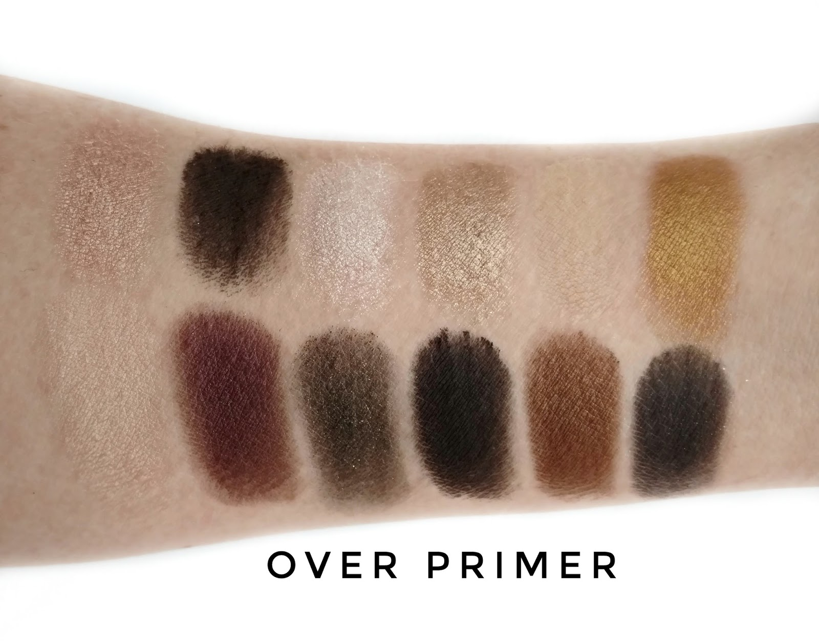 maybelline 24k nudes palette swatches