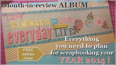my month-in-review album (with link to a free class!)