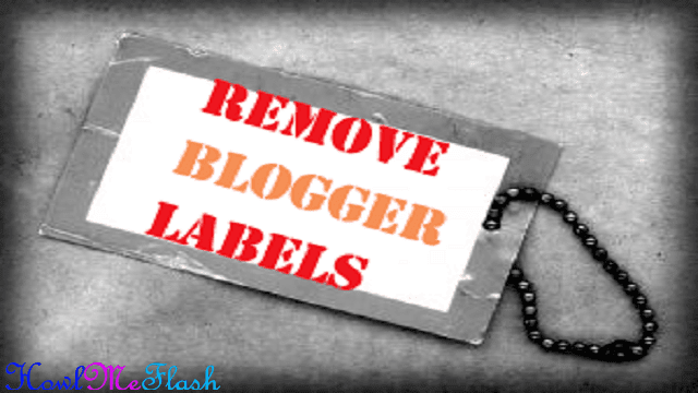 Remove or Delete Labels from Blogger Posts