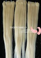 Tecer  cabelo - cabelo loiro liso tecido por metro 60 cm