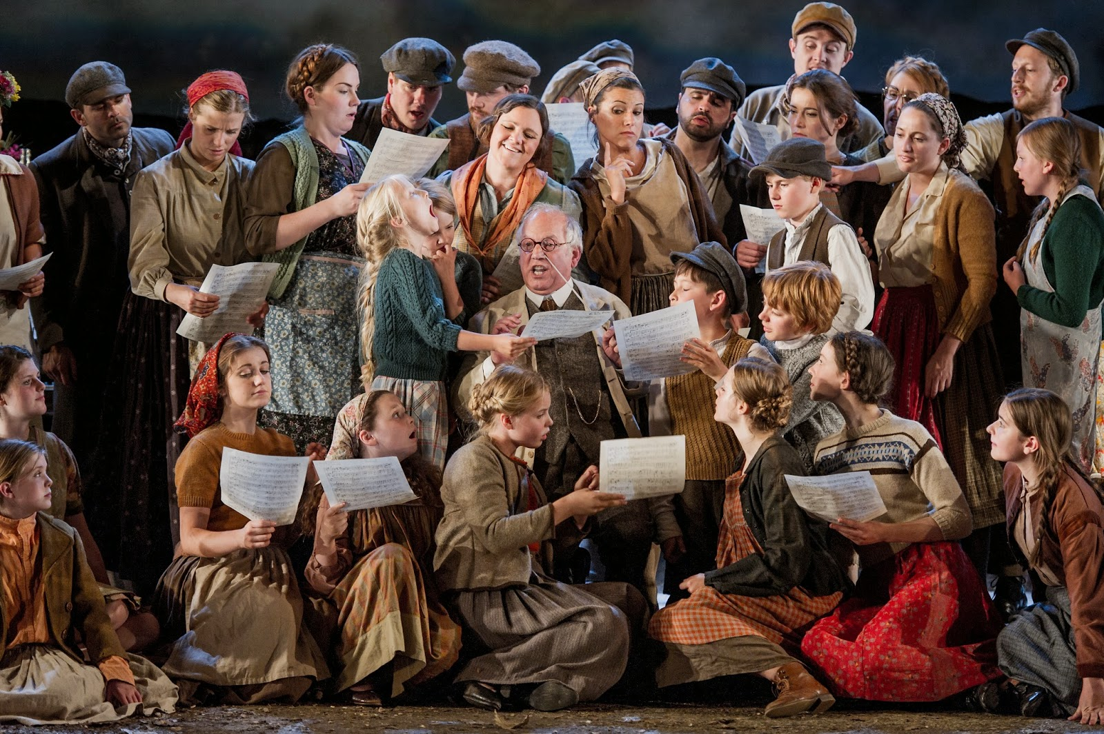 Bonaventura Bottone and Chorus in Dvorak's The Jacobin at Buxton Festival