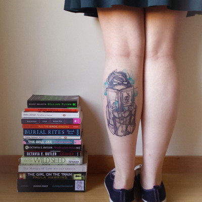 Sexy Book Tattoos on Leg