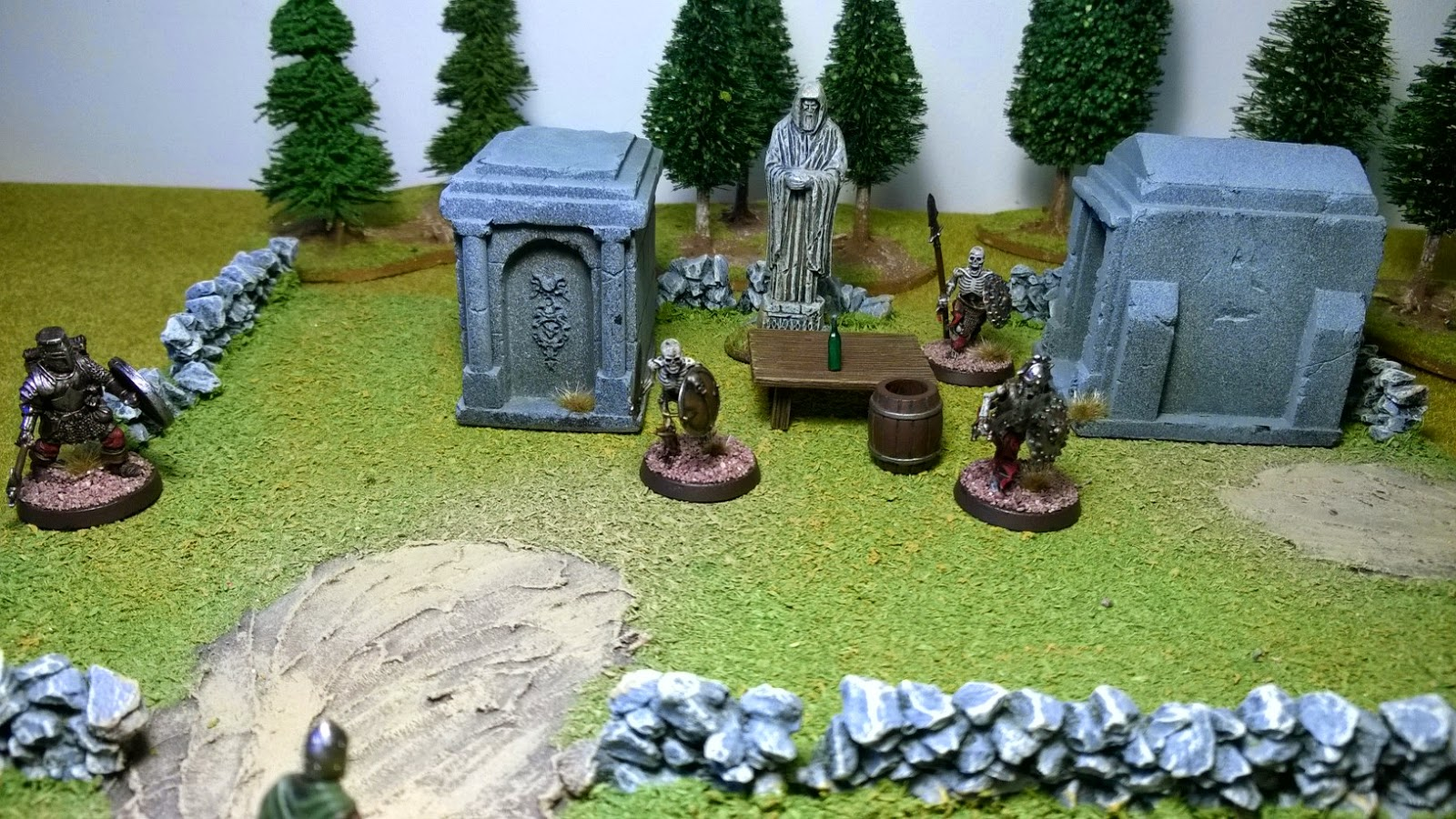 open combat skirmish game warband undead miniature