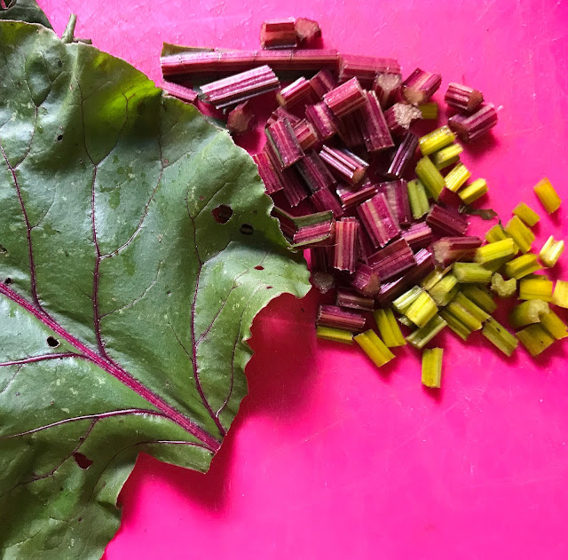 eating beet stems and greens