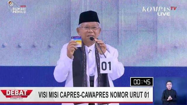 Hasil Debat Ketiga Pilpres, Jokowi Disebut Jeli Pilih Kiai Maruf Sebagai Cawapres