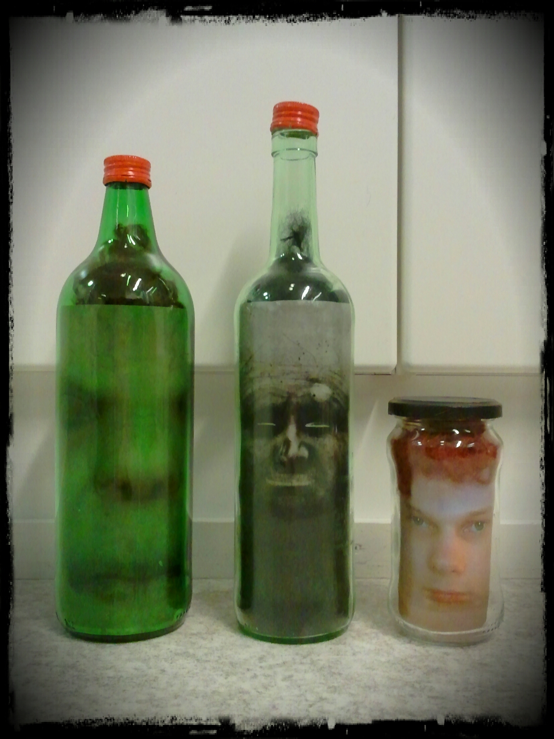 image about Halloween Head in a Jar Printable identified as Riittalicious: Selfmade / Shrunken Heads And Halloween