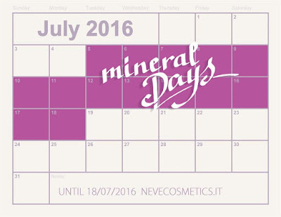 MINERAL DAYS 2016 Neve Cosmetics