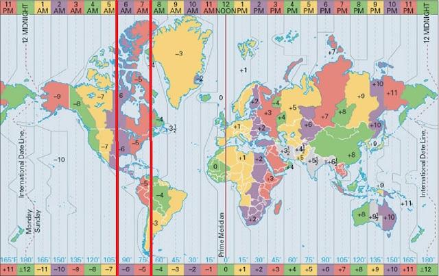 huso horario ecuador