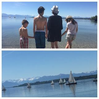 famille bretzel lac voilier montagne starnberg