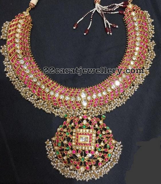 Latest Temple Jewellery with Kundan