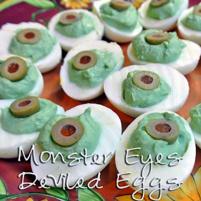 Mom, What's For Dinner?: Halloween Eyeball deviled eggs