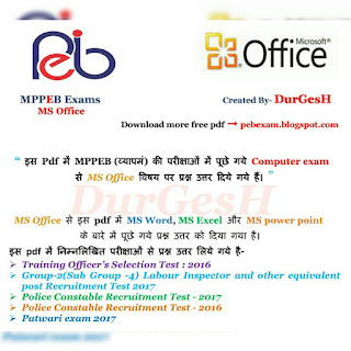 Ms Office Notes Pdf