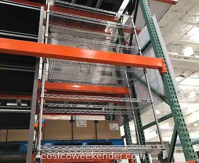 Store and put your belongings away with the Trinity NSF 6-Tier Wire Shelving Rack