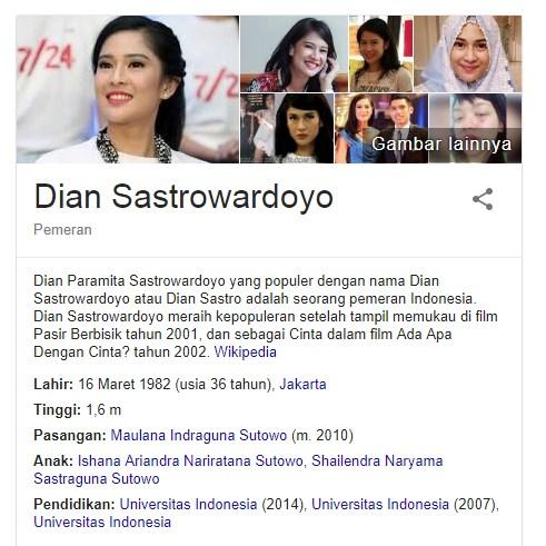 11 Fakta Menarik Dian Sastro Salah Satu Aktris Indonesia