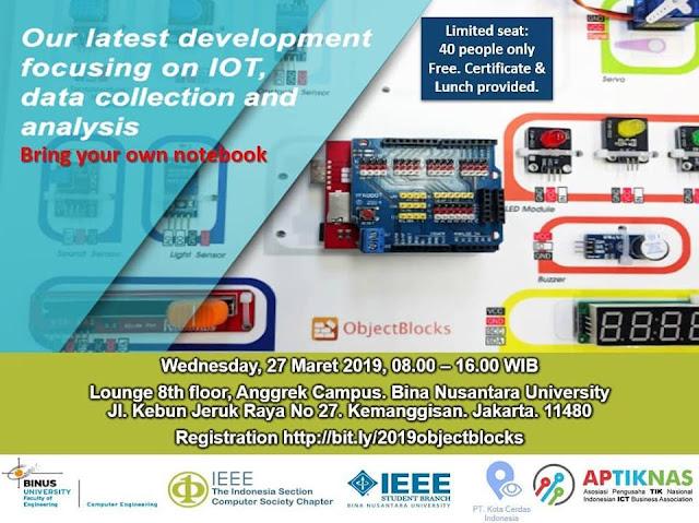 Workshop IoT Learning - IEEE Binus 27 Mar 2019