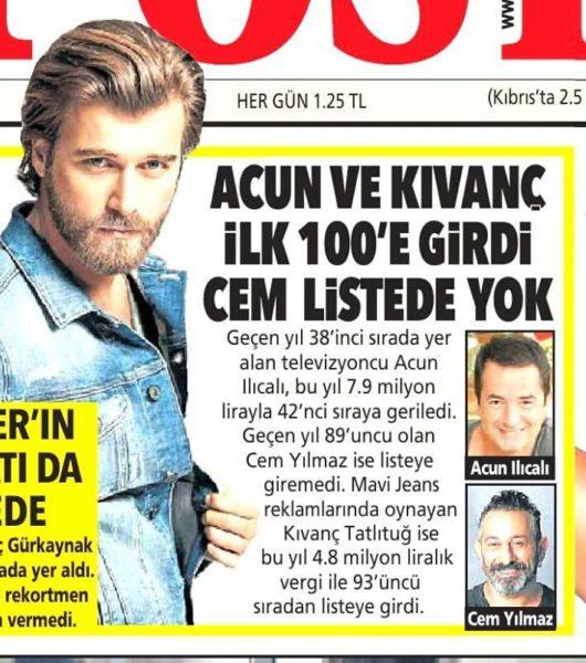 Turkish stars and taxes