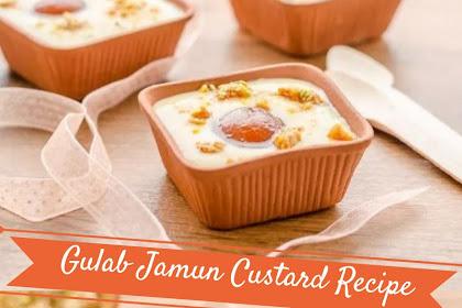 Gulab Jamun Custard Recipe #christmas #dessert