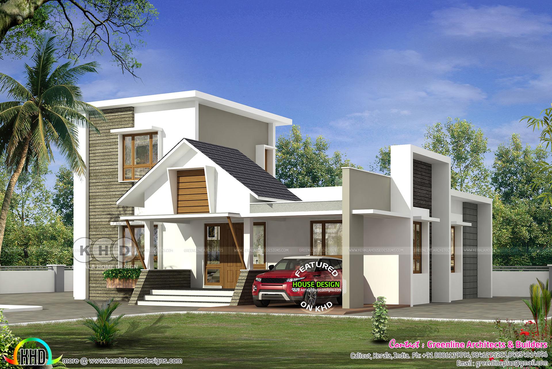 1810 Square Feet 4 Bedroom Modern Home Kerala Home
