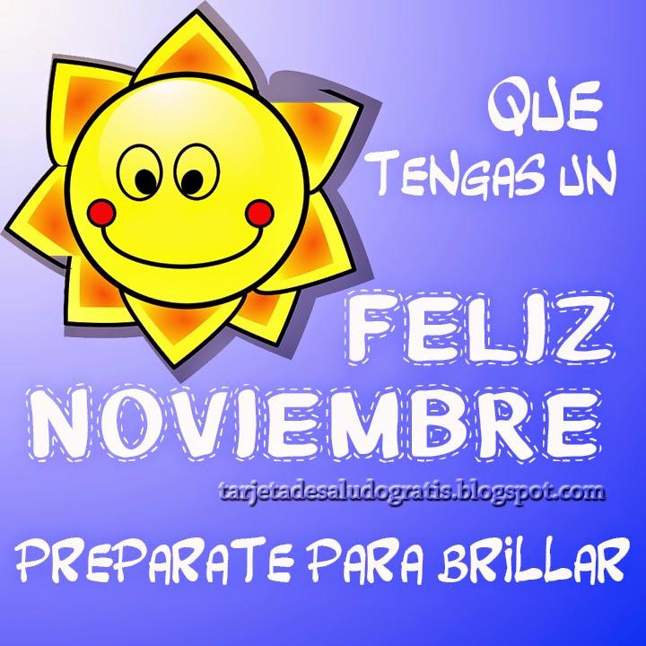 Postal feliz noviembre nueva tarjeta ilustracion