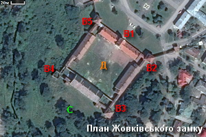План-схема замку в Жовкві