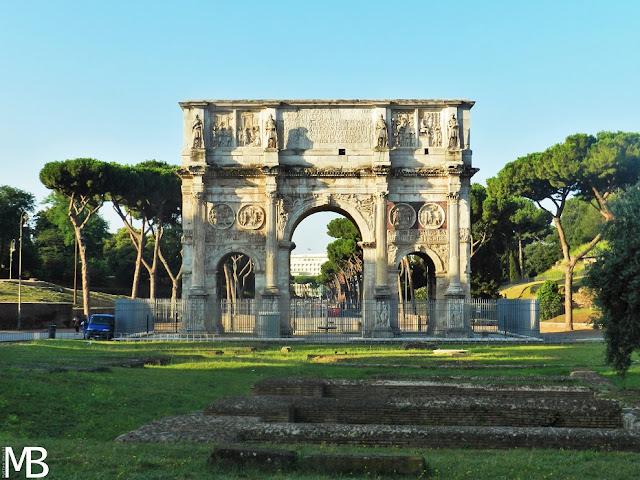 arco di costantino roma in un giorno